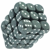 Grey & White 'High Tech' Speckled 12mm D6 Dice Block